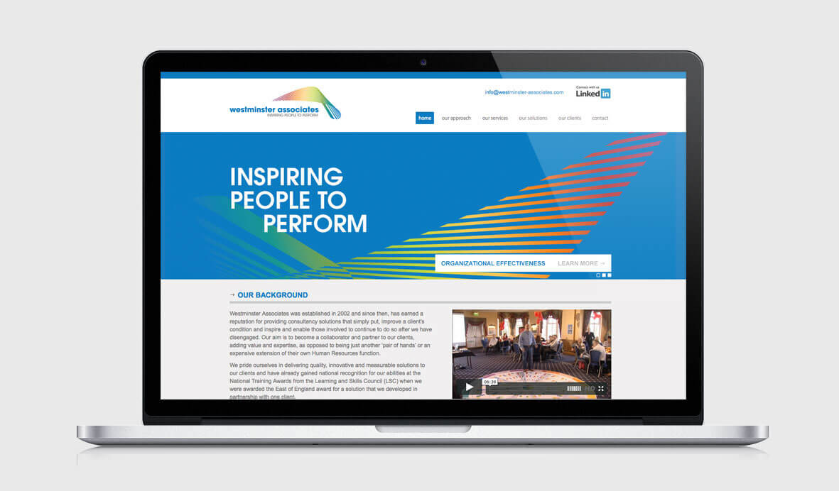 Website design for Westminster Associates