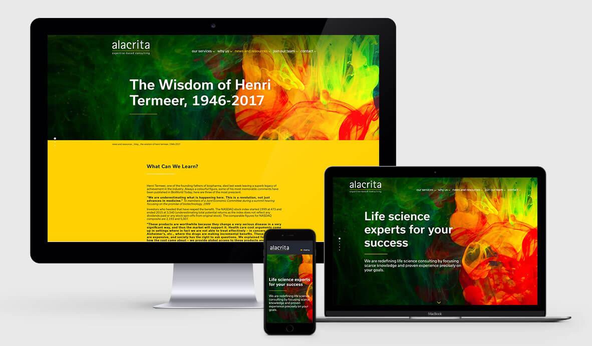 Alacrita responsive Wordpress design
