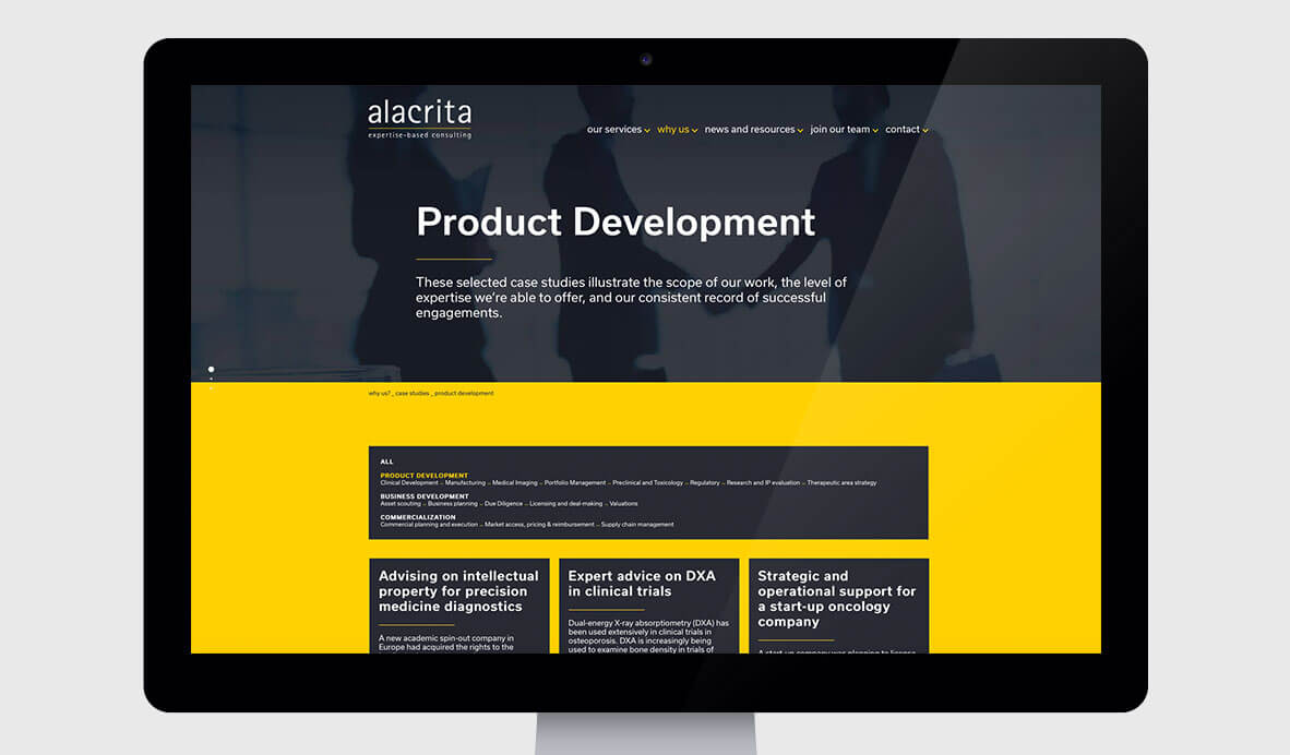 alacrita web design