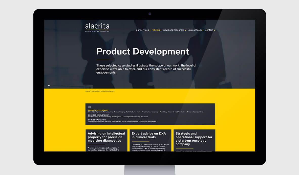 alacrita web design