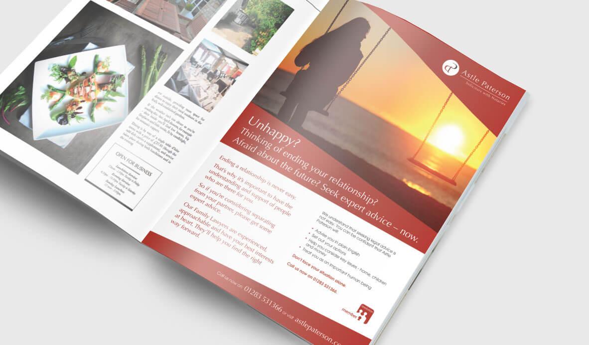 a4 magazine ad astle paterson