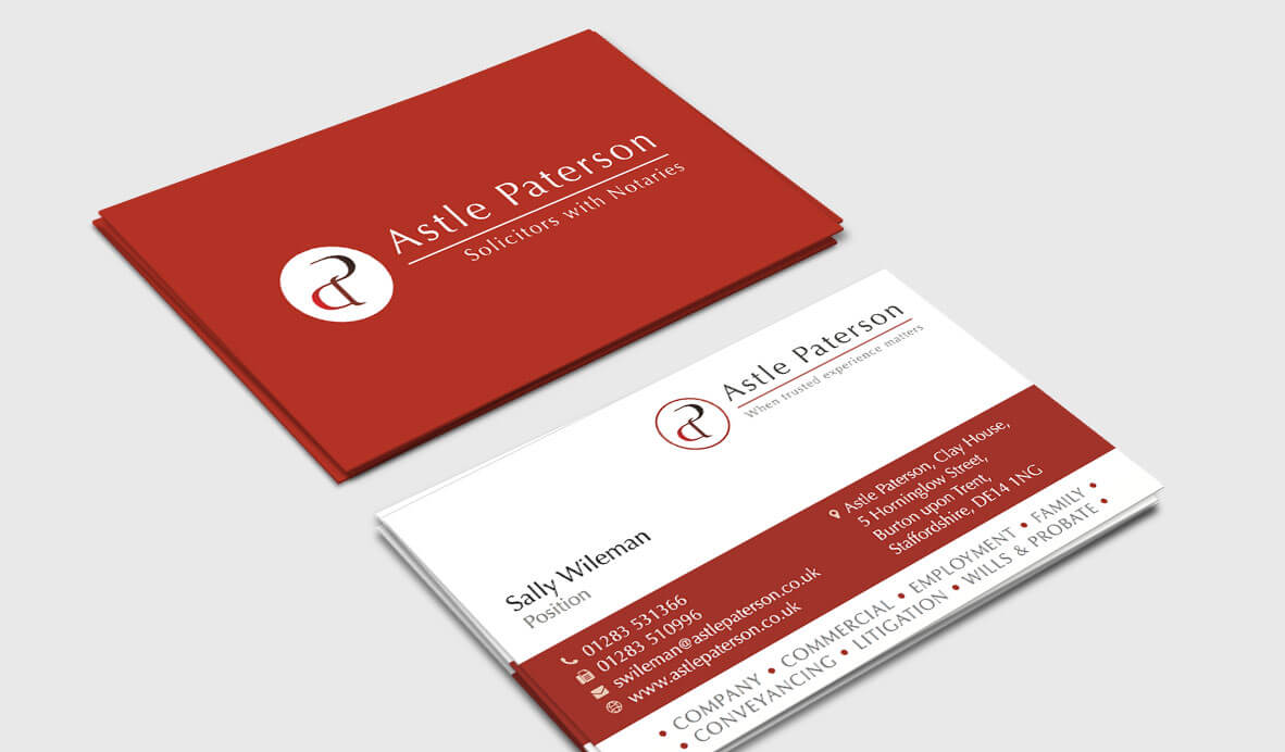 business card design astle paterson