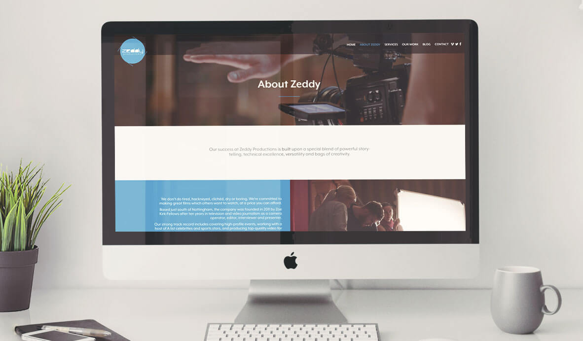 zeddy productions wordpress website design