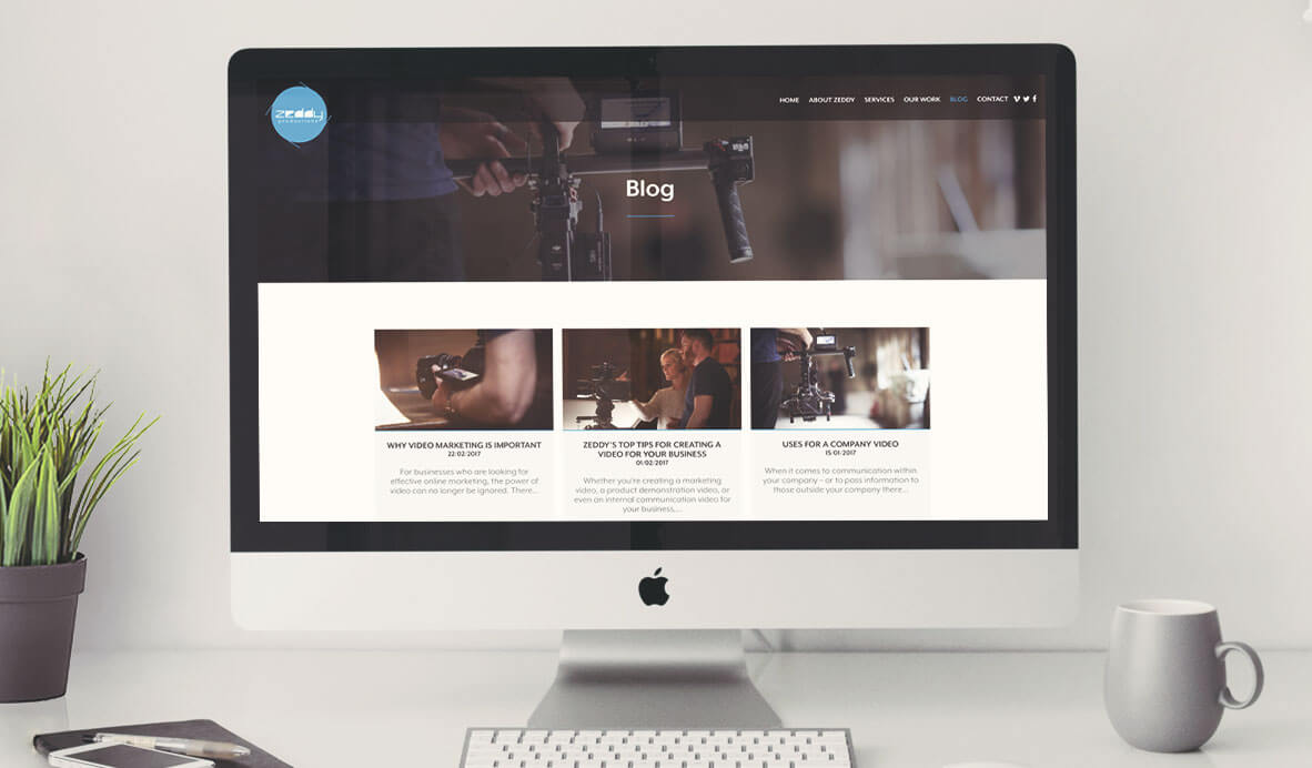 zeddy wordpress web site design