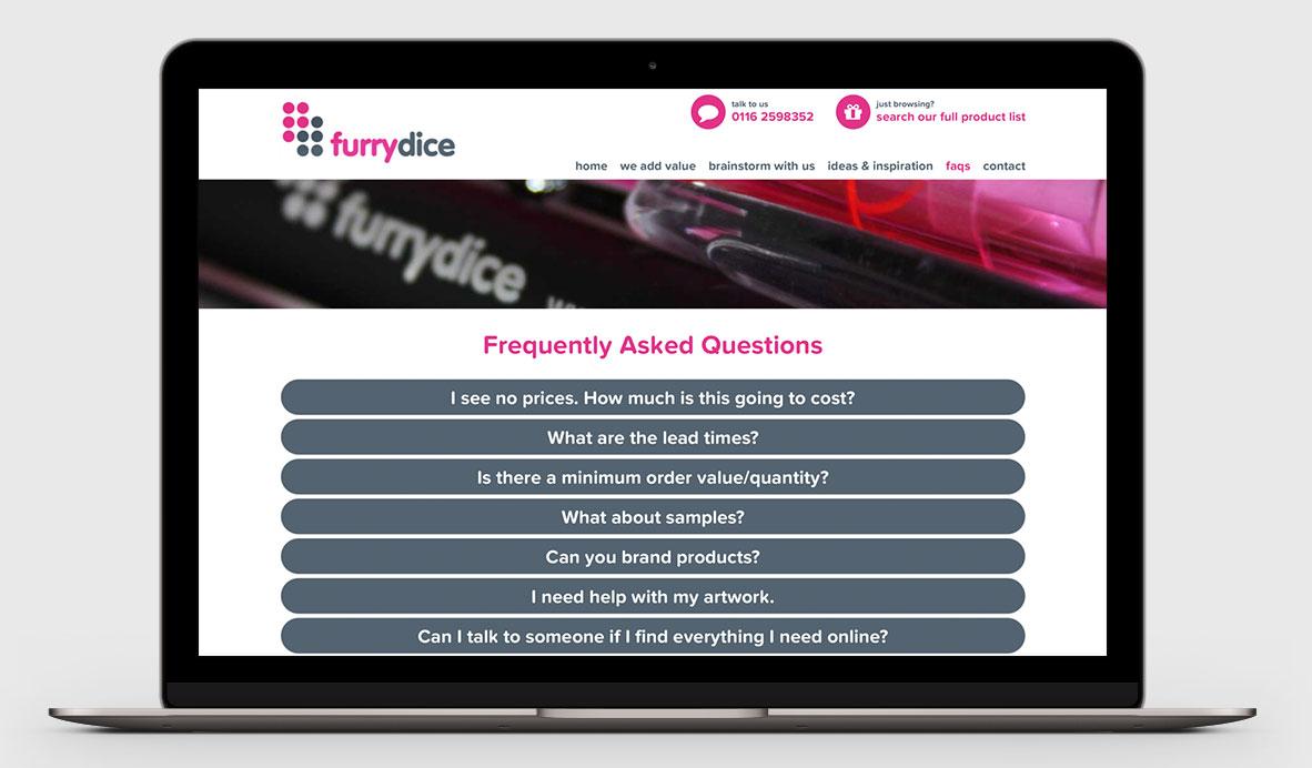 furry dice responsive web design