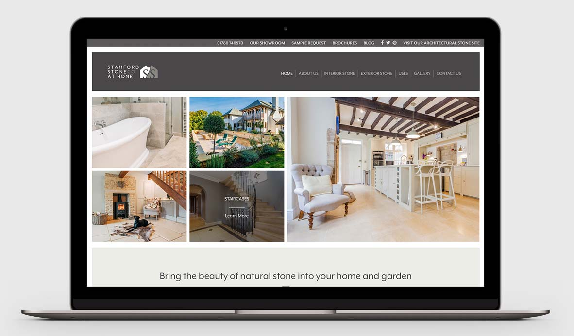 stamford stone at home website design