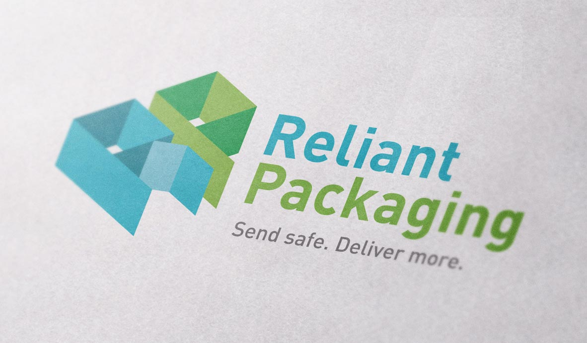 reliant packaging logo design