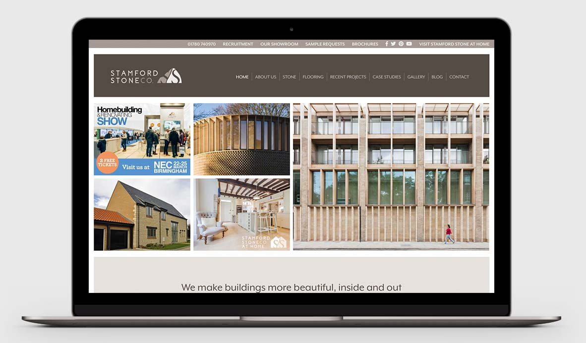 stamford stone website relaunch