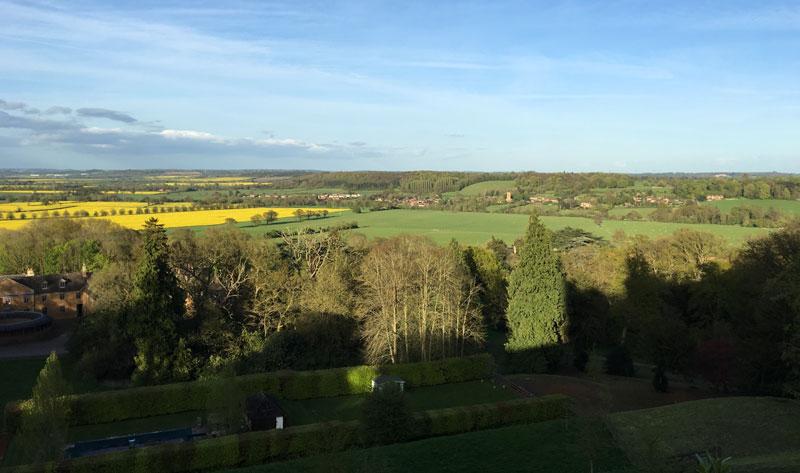 View from Belvoir Castle