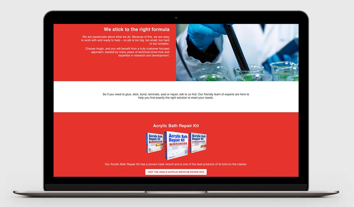 anglo adhesives wordpress design 2