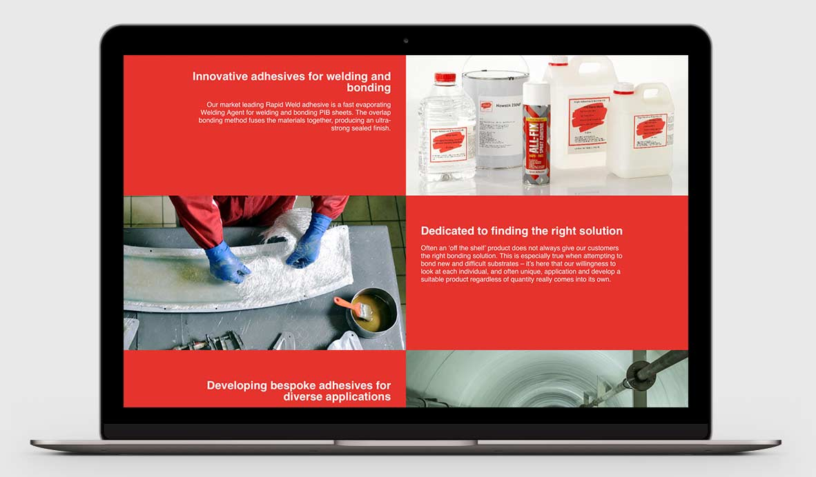 anglo adhesives wordpress design 4